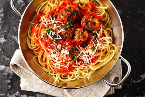 tasty Pasta Spaghetti with Meatballs