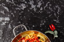 tasty Pasta Spaghetti with Meatballs