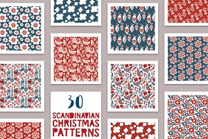 20% OFF! 30 Scandinavian Patterns