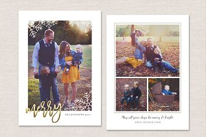 Christmas Card Template CC119