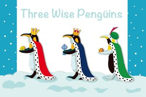 Three wise pengüins