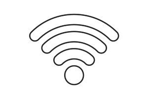 Wireless thin line icon