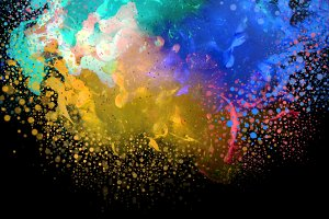 colors blots with drops