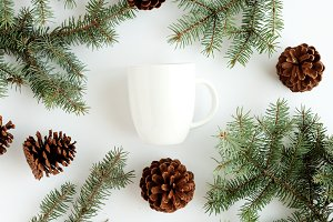 Christmas Coffee Cup Stock Image