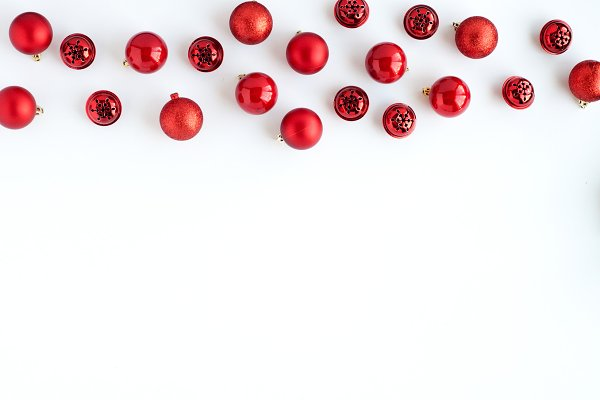 Red Ornaments Stock Image