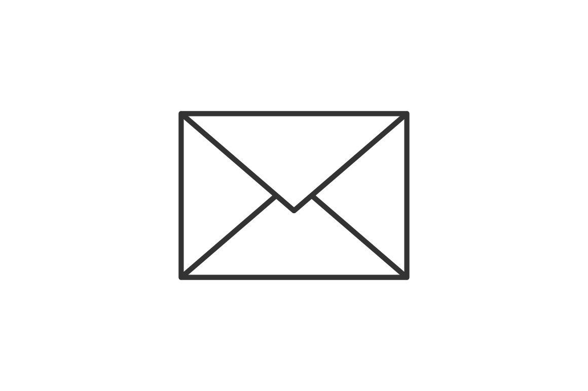 Envelope Thin Line Icon Icons Creative Market