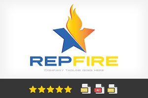 RepFire Logo Template