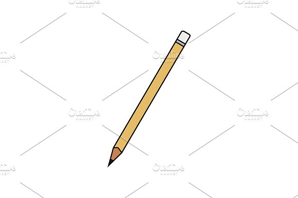 Pencil with eraser icon. Vector - Illustrations