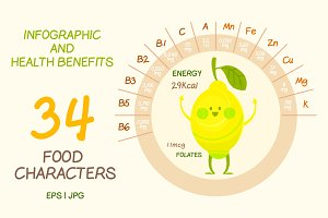 Food infographics, healt benefits
