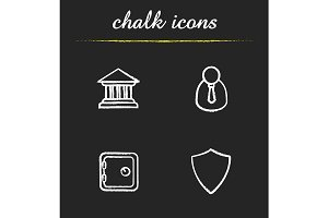 Banking. 4 icons. Vector