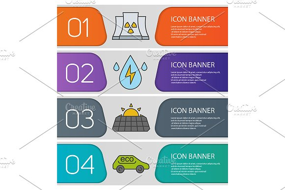 Bio technology banners. Vector - Product Mockups