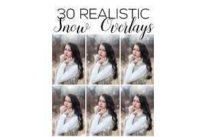 Snow Overlays | Photoshop Overlays