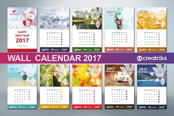 Wall Calendar Graphic Design : Wall calendar v presentation templates