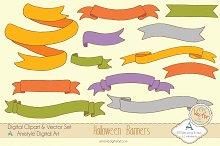 Halloween Banners Clipart&Vector