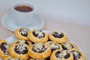 Homemade cakes with poppy seeds