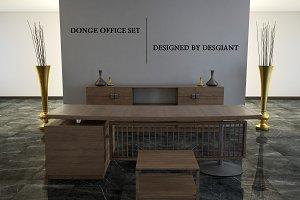 Donge Office Set 3d Model
