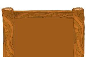 Light and dark brown wooden frame