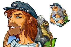 Man adventurer in expedition
