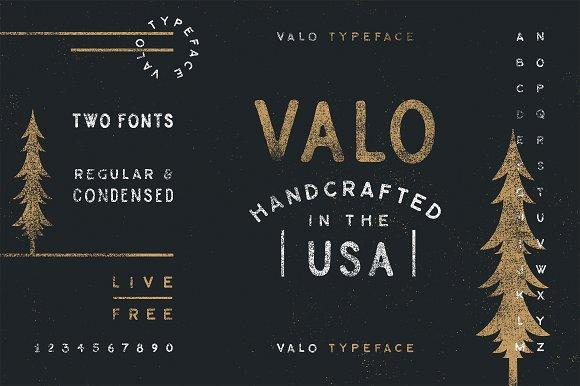 Valo A Handmade Typeface Duo
