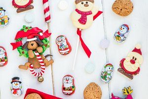 Red Christmas Stocking with Sweets