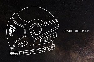 Hand-Drawn Space Helmet