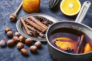 winter wine cocktail mulled wine