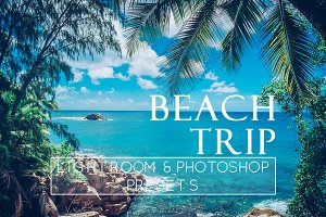 5 Beach Trip Themed Lr & Ps Presets