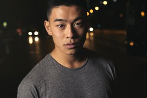 Portrait of a asian young man.