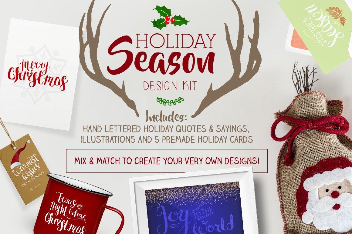 Holiday Season Design Kit Illustrations Creative Market