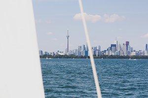 Sailboats w/ Toronto Skyline