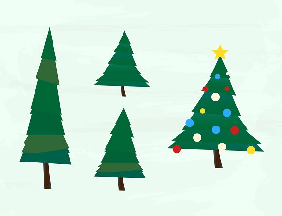 Christmas Tree Vector Pack in Illustrations