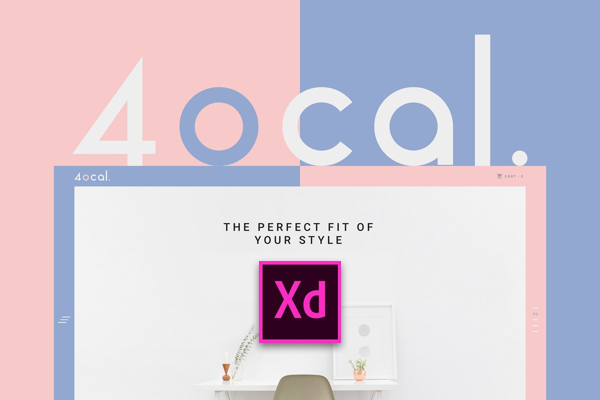 4ocal Web UI Kit for Adobe XD ~ UI Kits and Libraries