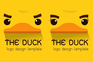 Female,Male duck Flat logo