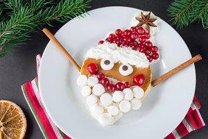 Happy Santa pancake