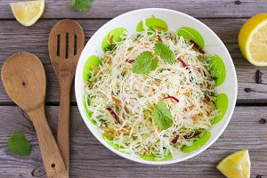 Vitamin cabbage salad with carrots