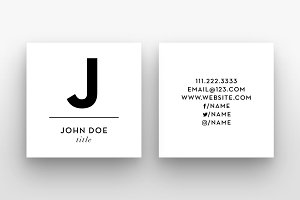 The Small Initial - Business Card