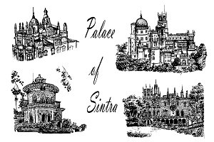 4 vector illustration of palaces