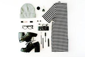 Feminine clothes and accessories