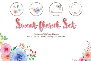 Sweet Floral Element DIY Pack   02