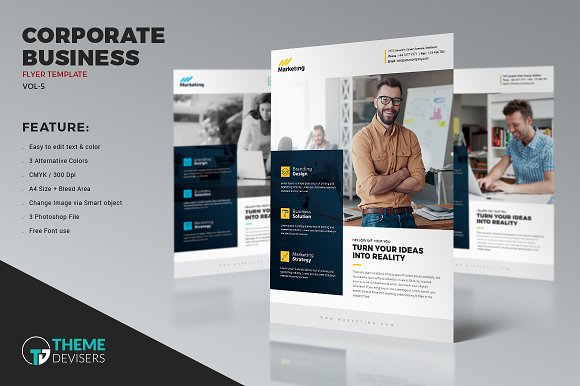 Corporate Flyer Flyer Templates on Creative Market – Corporate Flyer Template