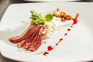 Sugar-cured smoked goose breast