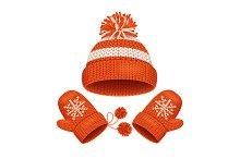 Hat and Mitten Set Winter