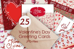 25 Valentines Day Greeting Card