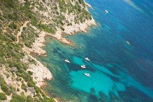 Beautiful coastline in Sardinia
