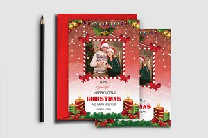 Christmas Card Template-V447