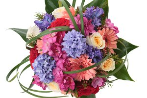 Floral bouquet with hyacinth flowers