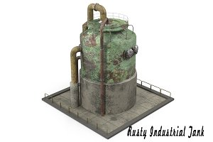 Rusty Industrial Tank