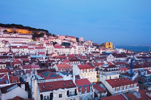 City of Lisbon at Twilight