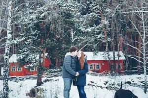 Young loving couple having fun