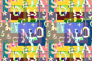 Glitch distortion seamless pattern